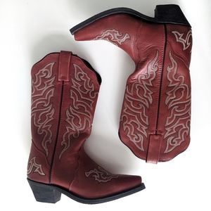 Leather Rockin Country Cowboy Boots - Like New!